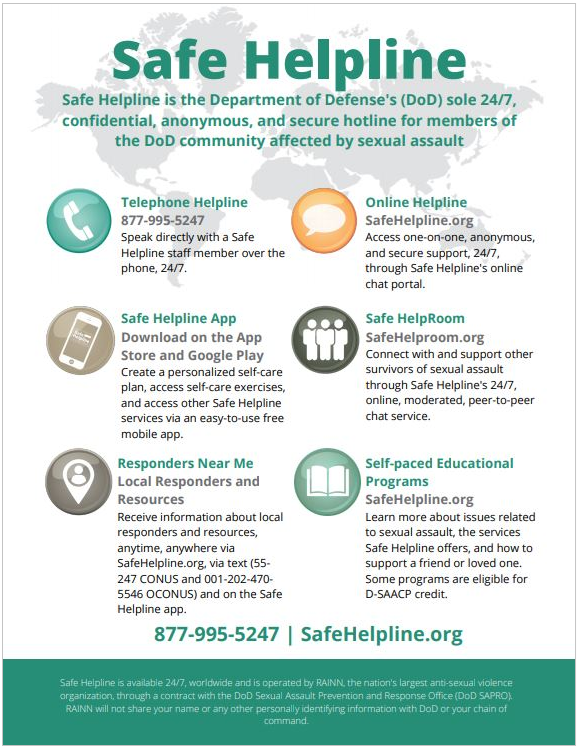 Safe Helpline One Pagers